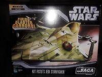 Star Wars Saga Collection Kit Fisto Jedi Starfighter vehicle sealed Hasbro 2006