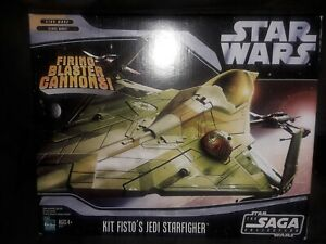 Star Wars Saga Collection Kit Fisto Jedi Starfighter vehicle sealed Hasbro 2006