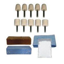 Aluminium Alloy Brass Felt Metal Polishing Buffing Kit Pro-Max 14pc