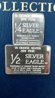 1/4 oz -1/2 oz .999 Fine Silver Art Bar, Foster Mint