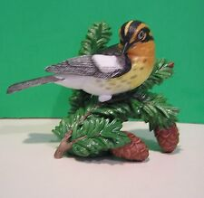 LENOX BLACKBURNIAN WARBLER Garden Bird sculpture NEW in BOX with COA