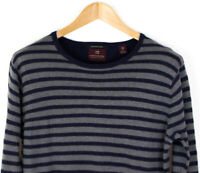 Scotch & Soda Hommes Laine Rayé Pull Cardigan TAILLE S AGZ560