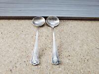 2 Antique Vtg Sterling  Mini Sugar Salt Condiment Spoon 3.5'' ~ 16gram