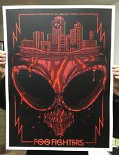 FOO FIGHTERS CALIFORNIA HONDA CENTER  SILKSCREEN GIG POSTER  S/N BY ARTIST