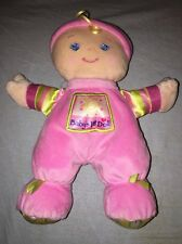Fisher Price Baby's First Doll Plush 10 Inch Pink Shake Rattle EUC M9528 Birth+