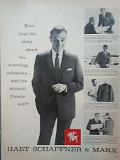 1959 Hart Schaffner & Marx Mens Suit The Traveling Salesman Story Original Ad