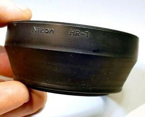 Nikon HR-1 Lens 52mm threaded Rubber Hood shade 50mm f/1.4 Nikkor Non Ai Ai-s