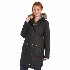 Regatta Lillier Ladies Parka Jacket Waterproof Breathable Insulated Long Coat 12 Black