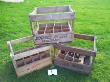 VINTAGE INDUSTRIAL ANTIQUE RETRO DUTCH FRENCH WOODEN LAGER BEER CRATE  - RARE!