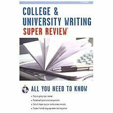 Super Reviews Study Guides: College and University Writing Super Review by Rober