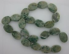18x13 Flat Oval Gemstone Old Jade Beads 15 Inch Strand Gem Stone Natural