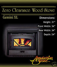 Appalachian GEMINI XL Wood Burning Stove