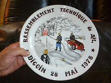 Assiette Commémorative Sapeur Pompier Rassemblement Technique 78 FireMan