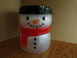 """Snowman Bank Bath and Body Works Novelty Translucent Plastic 9"""" Tall"""