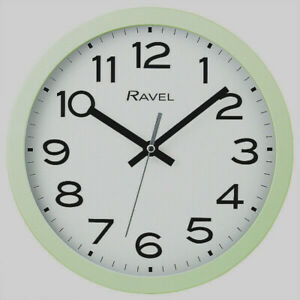 Ravel Sage Green Kitchen Office 25cm Wall Clock  New  Boxed