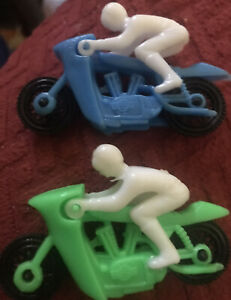 (2) Plastic Toy Motorcycles W/ Riders