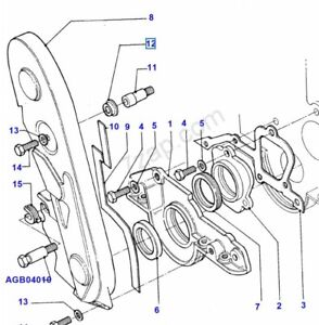 Gummi Befestigung Deckel Zahnriemen Ford OHC Motore Capri Granada Sierra 3 Stck