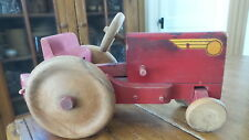 Antique Wooden TOY TRACTOR, X-L , 13""