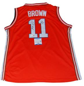DEE BROWN signed (ILLINOIS FIGHTING ILLINI) basketball jersey BECKETT BB97795