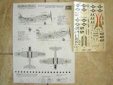 """A-1H INTRUDER """"2 USN/USS INTREPID/TICONDEROGA"""" FUJIMI DECALS 1/72"""