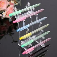6 Pen Pencil Clear Acrylic Display Stand Make-up Brush Display Case Pen Holder