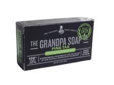 THE GRANDPAS PINE TAR ORIGINAL SOAP FOR FACE BODY AND HAIR, 3.25 OZ