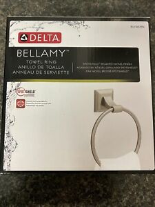 Delta Bellamy Towel Ring in SpotShield Brushed Nickel Finish - New In Box