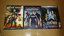 Captain America: The Winter Soldier + Civil War (DVD) Complete Set 1 2 & 3 NEW!