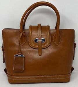 Dooney & Bourke Florentine Leather Toscana Side Zip Satchel ~ Ginger