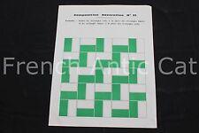 Tableau Composition Decorative Forme rectangle vert blanc vintage art ecole