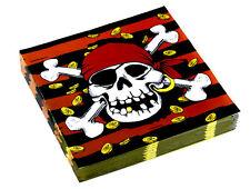 JOLLY ROGER PIRATE PARTY TABLEWARE AND PARTY WARE Napkins Plates Cups Tablecover