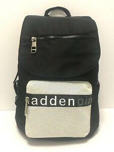Pre-owned Excellent Genuine Madden Girl Black and White Backpack