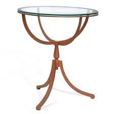 Table basse table d'appoint cadran métallique cuivré verre Southport