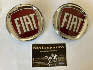 Fiat Grande Punto Dal 2005 >Kit 2 Fregi Loghi Stemma Fiat Anteriore & Posteriore