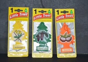 3X LITTLE TREES, AIR FRESHENER ASSORTED SCENTS ( 3 DIFFERENT AROMAS )