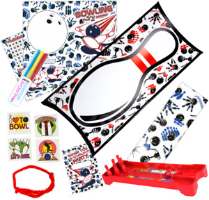 Pre Filled Ten Pin Bowling Party Box - Boys Girls Parties Activity Gift Bags