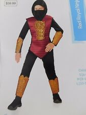 Red Royal Ninja Boy's Halloween Costume No Facemask Child 4-6 Small #5538