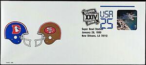 SAN FRANCISCO 49ers VS DENVER BRONCOS SUPER BOWL 24 COMM. COVER 49ers 55 DEN 10