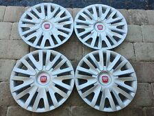 """15"""" CUSTOM HUBCAPS WHEELCOVERS FITS FIAT 500 (4) BRAND NEW BETTER THAN OEM"""