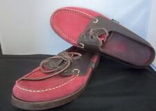 """PARABOOT - Women's Boat Shoes Special Dooney & Bourke Red Mules- Footbed 9 7/8"""""""