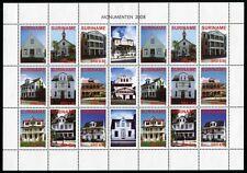 SURINAM 2008 Architektur Architecture Häuser 2212-2220 ZD-Bogen ** MNH