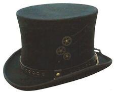 Australian Wool Steampunk Mad Hatter Top Hat - Size (S,M,L, XL & XXL) Hand Made!