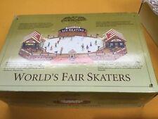 Mr Christmas World's Fair Lighted Skater Rink 15 Carols/15 Other Tunes Music Box