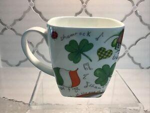Crown Trent UK Fine Bone China 16oz Mug Shamrock Irish St Patrick's Day MINT!