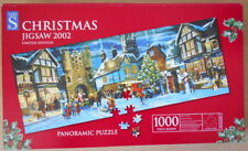 CHRISTMAS JIGSAW. 1000 pce puzzle   2002  limited edition.panoramic SANTA'S HERE