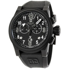 Zodiac Men'S 48 mm Black Dial Chronograph Silicone Strap Watch ZO8529