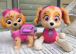 PAW PATROL Skye Lot of 2 Soft Toy Plush Action Figure Wings Pack Pup 2016