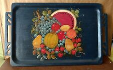 Overton Original Bentwood Hand Painted Toleware Tray Original Label Signed #402