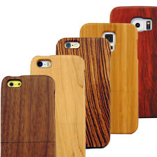 Real Natural Hard Wood Case for iPhone 5 5S 5C 6 6S 6/S Plus Galaxy S4 S5 S6