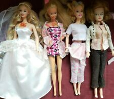Vintage 1966 Barbie Doll Lot of 4 plus vintage clothes and accessories